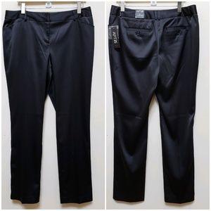 Apt. 9 Ava Black Tie Sateen Dress Pants